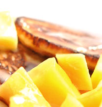 Оладьи с манго