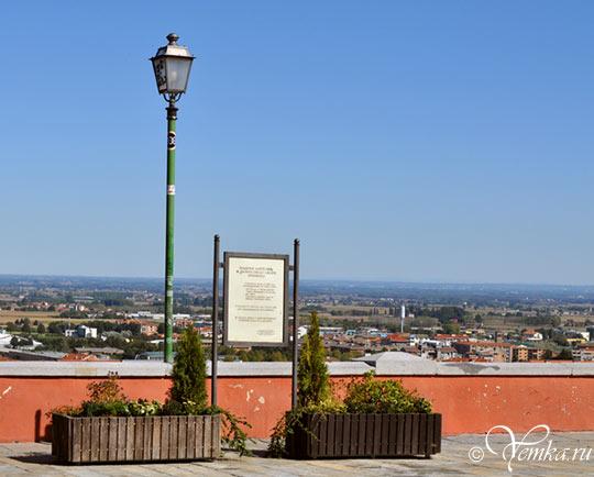 Пинероло, вид на город