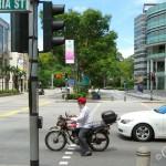 На улице в Сингапуре