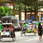 Рикши на улице