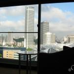 Вид из окна отеля на город